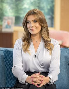 Stalker hell: Kym Marsh, 41, stopped off at the ITV studios in London on Monday for an appearance on This Morning to discuss her Coronation Street storyline
