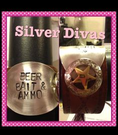 Beer, bait, and ammo stamped cuff bracelet $35 Facebook.com/silverdivas
