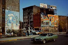 Houston and 2nd Avenue, Lower East Side, New York City, New York, United States, 1980, photographer unknown.