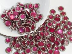 12 Snaps Pearl Set Raspberry Pink 4 Part Prong by hookedbykmorey