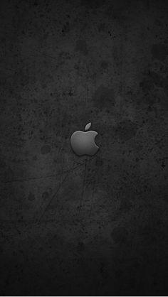 グランジ風黒のiPhone5 スマホ用壁紙