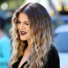 Khloe Kardashian Ombre November 2017