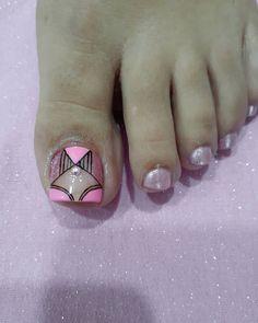 Toe Nail Art, Toe Nails, Purple And Pink Nails, Toe Nail Designs, Instagram, Pedicures, Mayo, Veronica, Toenails