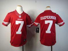 Youth Nike San Francisco 49ers  7 Colin Kaepernick Elite Jersey-Red 9a4a8a0aa