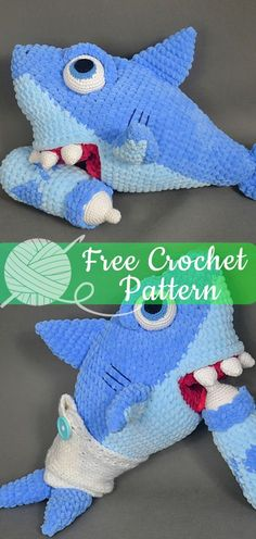 Cute Shark Amigurumi Free Crochet Patterns | 496x236
