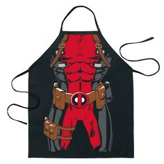 3b9b5e99104 ICUP Inc unisex-adult Marvel Deadpool Character Apron Standard Officially  Licensed Featuring Deadpool Cotton Adjustable One Size Fits Most (Adults)