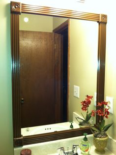 Redo of a builders grade bathroom mirror. Very easy!