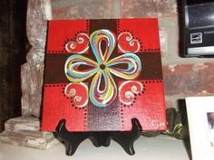 Hand Painted Canvas Cross by PaintItPinkbyCarri on Etsy