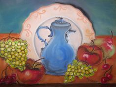 Bildtitel: Der Küchentisch Technik: Pastellkreide Größe :   30 x 40 cm