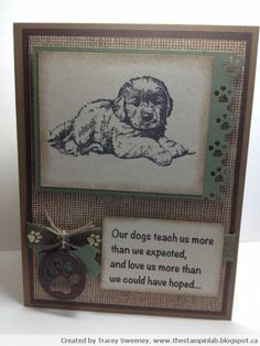Pet Sympathy by gunnergirlchase - Cards and Paper Crafts at Splitcoaststampers