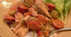 Might be able to make low carb? Make this stew a day ahead to allow the flavors in this highly seasoned stew with Andouille sausage, chicken and okra develop. Chicken And Andouille Gumbo Recipe, Creole Jambalaya Recipe, Chicken Gumbo Recipes, Sausage Gumbo, Chicken Sausage, Creole Recipes, Cajun Recipes, Best Gumbo Recipe, Mardi Gras Food