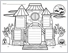 """Use these """"Haunted House Story Elements"""" graphic organizer for any Halloween-themed story that you are reading! The graphic organizer with lines c. Halloween Stories, Halloween Activities, Halloween Themes, Spooky Stories, Holiday Activities, Readers Workshop, Writing Workshop, Haunted House Stories, 2nd Grade Writing"""