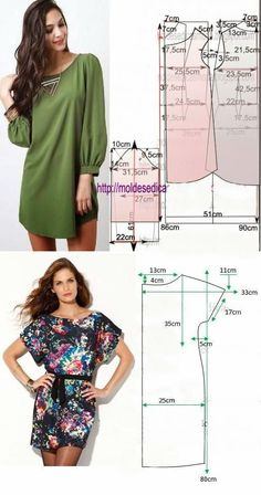 Best 7 Un patrón muy simples VESTIDOS by kimberley – faqen time – SkillOfKing. Make Your Own Clothes, Diy Clothes, Clothes For Women, Dress Making Patterns, Easy Sewing Patterns, Blouse Patterns, Clothing Patterns, Sewing Blouses, Dress Tutorials