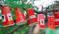 Guirnalda de vasos descartables - Colección Navidad 2014