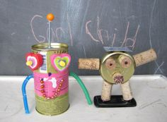 Making robots with the kids from found objects