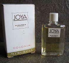 Vtg Joya Cologne Colonia by Myrurgia, 1/7oz Dab Mini Bottle, Perfume Parfum
