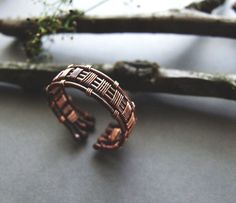 Mens Ring Copper Rustic Ring for Him Gift for Men by KicaBijoux