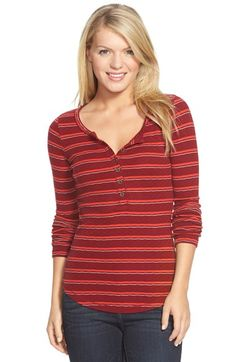 Lucky Brand Multi Stripe Thermal Tee available at #Nordstrom