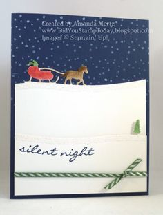 Night Time Sleigh Ride by mandypandy - Cards and Paper Crafts at Splitcoaststampers