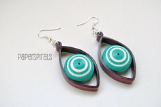 Quilled Paper Dangle Earrings by PaperSpirals on Etsy, €15.50