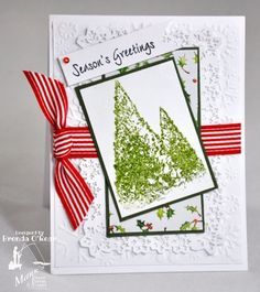 Benzi Stampz: Christmas Pines  Cased card of Peggy aka pegmac71...  Mark's Finest Papers and Stamps a Heinrich Co. DT http://www.marksfinestpapers.com/servlet/StoreFront