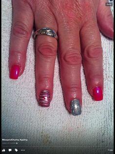 Pink zebra glitter nails Nails by Missy