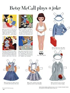 Every little girl loves paper dolls! Copy and print on card stock.