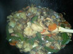 Tepanyaki de pollo. Aquí la receta: www.recomelona.wordpress.com