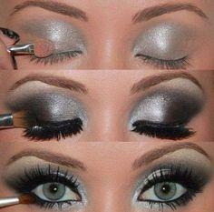 Ojos q impactan en cualquier evento, atrévete a llevar este bello maquillaje...