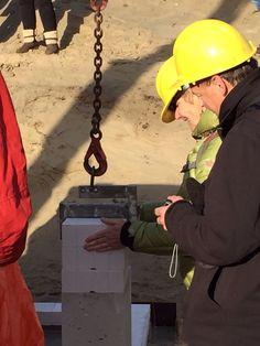 Koningskaars te Schiermonnikoog - Symbolische eerste steen - 8 januari 2016