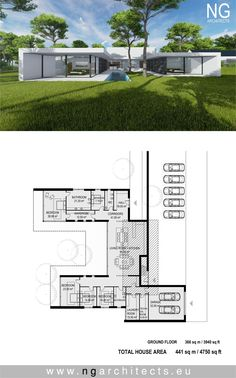 modern house plan Villa Unity designed by NG architects www.ngarchitects.eu