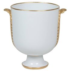 Porcelain Footed Urn Vase by Gio Ponti for Richard Ginori | See more antique and modern Vases and Vessels at https://www.1stdibs.com/furniture/decorative-objects/vases-vessels