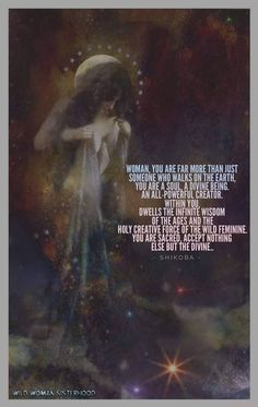 Woman, you are far more than just someone who walks on the Earth, you are a Soul, a Divine Being. Sacred Feminine, Feminine Energy, Divine Feminine, Spiritual Awakening, Spiritual Quotes, Spiritual Enlightenment, Spiritual Growth, Positive Quotes, Divine Goddess