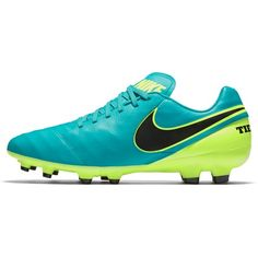 separation shoes 60435 4a671 Nike Tiempo Genio II Leather Firm Ground Football Boots - Clear Jade B,  Black
