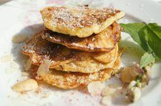Banaanpannenkoekjes  http://www.focusonfoodies.nl/gezond-ontbijt-suikervrije-banaan-pannenkoek/