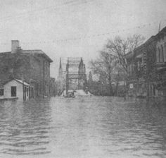 1937 Flood in Frankfort (Singing Bridge in the background)