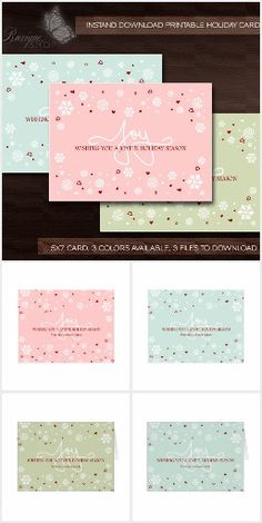 Joy Winter Snowflakes & Hearts #Joy #Winter #Snowflakes #Hearts #christmas #cards