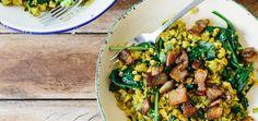 Golden Cauliflower & Crispy Bacon Hash | Changing Habits