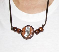 minimal necklace unique wood necklace  wood by woodjewelrywithlove