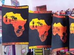 African Sunset Shadow Tracing Art - Taming Little Monsters African Art For Kids, African Art Projects, African Crafts, African Animals, African Safari, Tracing Art, Afrique Art, African Sunset, Kindergarten Lesson Plans