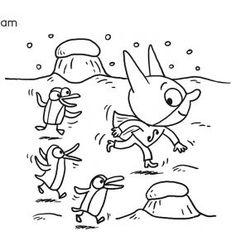 Coloriage SamSam : SamSam et les pingouins