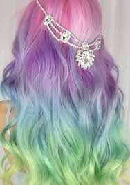Image result for purple pink rainbow ombre hair