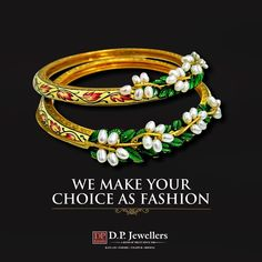 Let your hands shine with the real glow of your belief.  Show your uniqueness in crowd as we design your choice.  #DPJewellers #Newcollection #Bangles #Rings #Earrings #WeddingJewellery