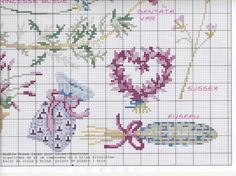 Just Cross Stitch, Cross Stitch Heart, Cross Stitch Flowers, Cross Stitch Patterns, Lavender Sachets, Lavender Flowers, Floral Embroidery, Hand Embroidery, Cross Stitch Collection