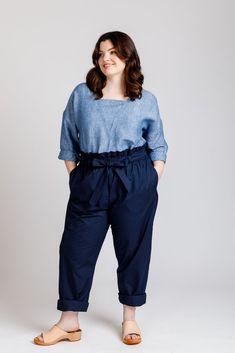 Olive Curve dress & blouse - Megan Nielsen