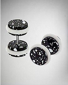 Black Splatter Fake Plug Set