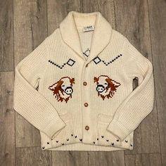 Vintage Cowichan Sweater Caldwell Canada Size L Wool Blend Shawl Collar Cows Cowichan Sweater, Cows, Beauty Skin, Outdoor Gear, Wool Blend, Work Wear, Online Price, Shawl, Canada