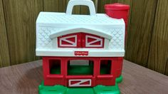 vintage Fisher-Price Red Barn Silo Farm 1995, no animals or Little People 2590    eBay