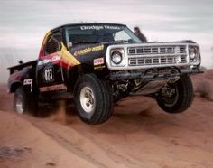 Best classic cars and more! Small Trucks, Mini Trucks, Cool Trucks, Pickup Trucks, Old Dodge Trucks, Dodge Pickup, Trophy Truck, Off Road Racing, Dodge Power Wagon