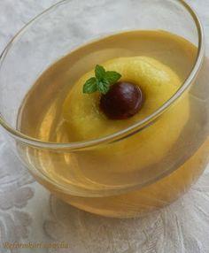 Reformkori konyha: Alma pezsgőkocsonyában Pudding, Drinks, Food, Drinking, Beverages, Custard Pudding, Essen, Puddings, Drink